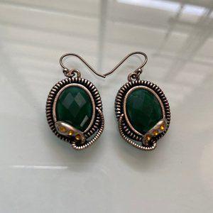 Lucky Brand | Snake Bezel Stone Earrings